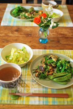 緑野菜いっぱいのランチプレート