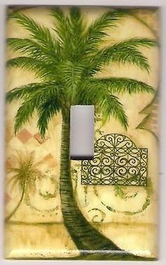 Palm Tree Tropical Metal Wall Hook Rack Bathrooms Decor