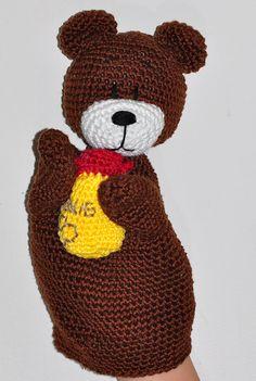 crochet pattern amigurumi hand puppet teddy by MOTLEYCROCHETCREW
