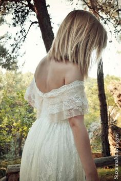 Bohemian Wedding Dress Ivory & Cream Lace by SuzannaMDesigns, €565.00