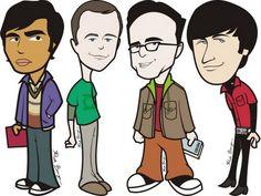 Big Bang Theory Caricatures