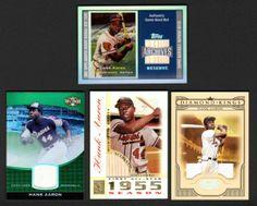 Up4Auction -Hank Aaron 4-ct Game-Used Memorabilia Lot #HankAaron #Collect