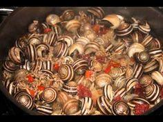 Caracoles en salsa - recetas de cocina sencillas