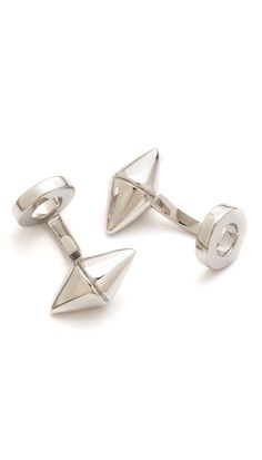 double cone cufflinks // #mens #gifts #stockingstuffer