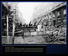 May 6, 1945. Barricades in Prague streets.