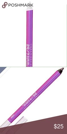 NWT Urban Decay Ether 24/7 Eyeliner Pencil  NWT Urban Decay Ether 24/7 eyeliner pencil, long lasting waterproof finish for all day brilliance and vibrant color. Color is like a medium metallic purple mix. So pretty!!! Urban Decay Makeup Eyeliner