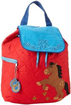 Stephen Joseph Boys 2-7 Quilted Backpack, Horse, One Size Color: Horse Size: One Size Toy, Kids, Play, Children - Click image twice - See a larger selection of little girls backpacks at http://kidsbackpackstore.com/product-category/little-girls-backpack/ - kids, juniors, back to school, kids fashion ideas, school supplies, backpack, bag , teenagers, girls, boys, gift ideas
