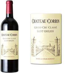 Château Corbin Saint Emilion - Grand Cru Classé 2010 - Vin Rouge -  Cépages : Cabernet franc, Merlot.