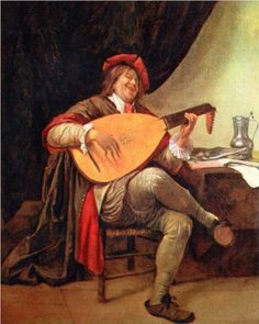 Self-portrait with a lute - Jan Steen
