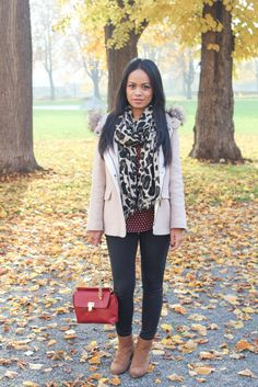 Zara Faux Fur Jacket! Perfect for fall...