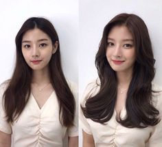 • 3) Hair만으로도 다른사람이~? 헤어스타일 전/후 : 네이버 블로그 Korean Long Hair, Estilo Miranda Kerr, Thick Hair, Hair Makeup, Hairstyles, Long Hair Styles, Fashion, Hair, Hair Cuts