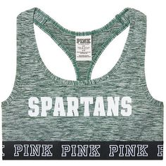 Victoria's Secret Michigan State University Logo Crop Bra (1.600 RUB) ❤ liked on Polyvore featuring activewear and sports bras