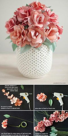 DIY Paper Flowers You Can Make Love flowers, but hate how much they cost? Make DIY paper flowers with these easy tutorials! Paper flowers are great for parties, decor, even weddings! Handmade Flowers, Diy Flowers, Fabric Flowers, Flower Diy, Elegant Flowers, Budget Flowers, Burlap Flowers, Tissue Paper Flowers, Paper Roses