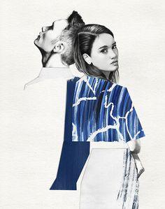 Lucie Briant. Fashion illustration on Artluxe Designs. #artluxedesigns