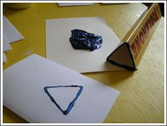 Hannukah Crafts  Toblerone Box makes triangle
