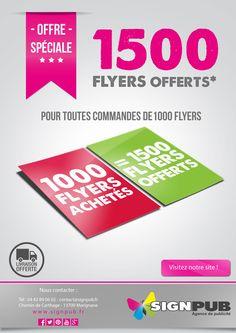 offre-facebook-flyer Carthage, Chart, Facebook, Printing, Carte De Visite, Cartago