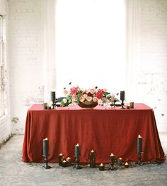 Moody Marsala Editorial on Green Wedding Shoes.  Floral: The Southern Table | Planning and Design: Birds of A Feather | Photo: Charla Storey Photography | Venue: Hickory Street Annex