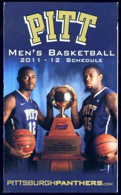 2011-12 PITTSBURGH PANTHERS MENS AND WOMENS BASKETBALL POCKET SCHEDULE  #Schedule