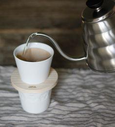 White Porcelain 'Donut Dripper'