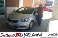 https://flic.kr/p/Guemwd | Congratulations Gina on your #Kia #Forte from Gary Guyette Jr at Southwest KIA Rockwall! | deliverymaxx.com/DealerReviews.aspx?DealerCode=TYEE