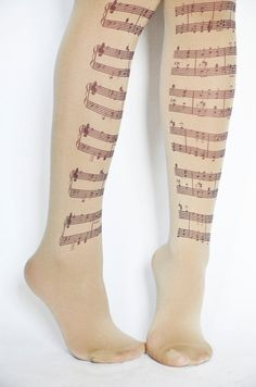 Musical Notes TightsMusic Clef Print by colinedesign on Etsy New Sherlock Holmes, Opaque Tights, Pride And Prejudice, New Blue, Choir, Orchestra, Order Prints, Musicals, Leggings