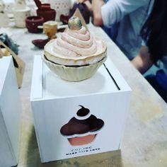 Cupcakes Tea cup by Cindy. dp 2015. Keramik Produksi Massal (Pottery 2) UPH, Okt 2017