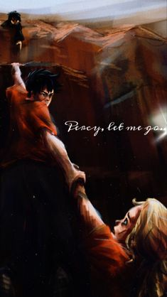 """""""Percy, let me go..."""" Let Me Go, Percabeth, Custom Wallpaper, I Hope You, Pj, Wallpapers, Movies, Movie Posters, Films"""