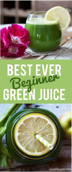This is the absolute BEST beginner green juice recipe! YUM!
