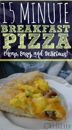 15 Minute Breakfast Pizza
