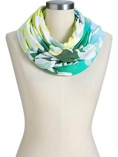 Women's Floral-Jersey Infinity Scarves | Old Navy