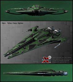 Narn Ta'lon Class fighter by Amras-Arfeiniel.deviantart.com on @deviantART