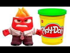 Inside Out Anger Play doh STOP MOTION playdo video Ira Claymation