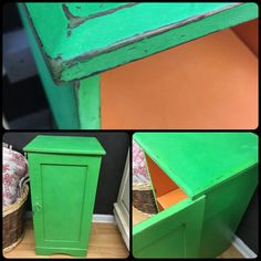 Antibes Green and Barcelona Orange Chalk Paint by Annie Sloan.