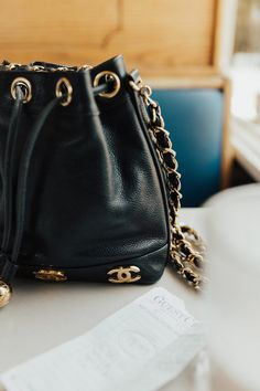 c7798c400f brought out the vintage chanel bucket bag  lucearow Vintage Chanel Bag