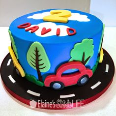 Elaine's Sweet Life: How to Decorate a Car Cake {Tutorial}