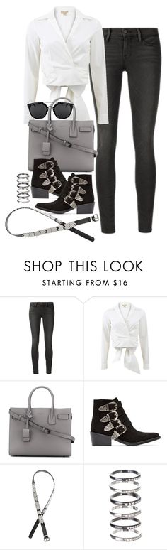 """Untitled #112"" by marinas-clothes ❤ liked on Polyvore featuring Frame Denim, Michael Kors, Yves Saint Laurent, Toga, H&M and M.N.G"