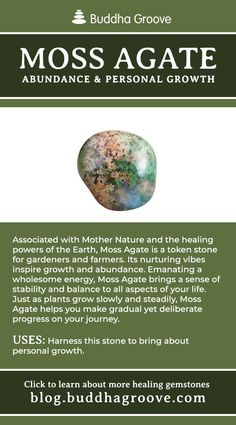 A Guide to Healing Gemstones Moss Agate - Abundance and Personal Growth