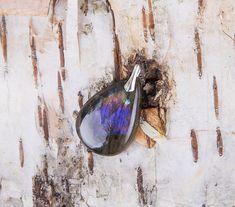 Purple labradorite pendant silver natural labradorite