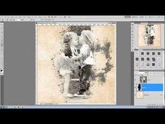 Digital Scrapbooking Photoshop Tutorial: Blending Photos into Backgrounds using Brushes as Masks - YouTube