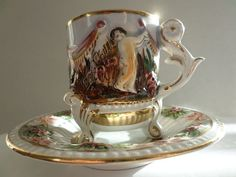Antique c.1910s very beautiful GB R. Capodimonte by BuyfromGroovy