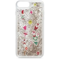 Casetify Christmas floaty glitter iPhone 6/6s/7/8 Plus case ($60) ❤ liked on Polyvore featuring accessories, tech accessories, glitter iphone case, apple iphone case, iphone cases and iphone cover case
