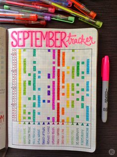 """September is a month that's commonly associated with""""fresh starts""""and""""improvements""""and""""new beginnings""""and other vaguely inspirational buzzwords that sound great in theory, but are kind of hard to execute in practice.Of course, if you actually want to get organized, it might just be the right month to start up abullet journal."""