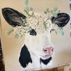 Last of the baby farm animal series for now. Last of the baby farm animal series for now. Farm Paintings, Animal Paintings, Cow Painting, Painting & Drawing, Painting Inspiration, Art Inspo, Baby Farm Animals, Farm Art, Cow Art
