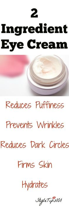 Augencreme mit zwei Bestandteilen Stop wasting your hard earned cash on expensive eye creams when you can easily make your own with just two simple ingredients! This DIY two ingredient eye cream works on all skin types and is best applied at night before Homemade Skin Care, Homemade Beauty Products, Diy Skin Care, Skin Care Tips, Skin Tips, Homemade Eye Cream, Diy Products, Belleza Diy, Tips Belleza