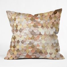 Monika Strigel Really Mermaid Gold Throw Pillow | DENY Designs Home Accessories