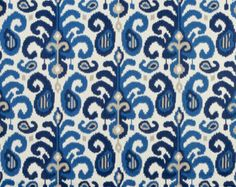 blue ikat curtains - Google Search