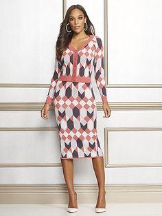 b1de0afbe58 Eva Mendes Collection - Geo-Print Kelli Sweater Skirt - New York   Company V