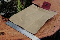 Leather and Waxed Cloth Canvas Bushcraft Forager by PNWBushcraft