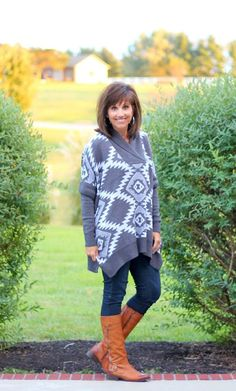 7a93b630f6a0 I love ponchos and this aztec print poncho from Stitch Fix is one of my  favorites