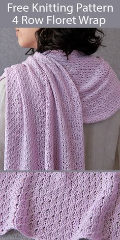 Easy Scarf Knitting Patterns, Knitting Stitches, Knit Patterns, Free Knitting, Snood Knitting Pattern, Knitting Ideas, Knit Wrap Pattern, Aran Weight Yarn, Knit Crochet